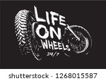 life on wheels slogan with bike ...