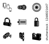 complex lock icons set. simple...