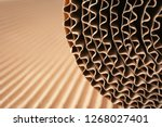 closeup view of roll of brown... | Shutterstock . vector #1268027401