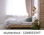 stylish apartment with large... | Shutterstock . vector #1268031547