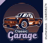 american muscle cars label ... | Shutterstock .eps vector #1268058274