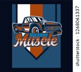 retro car service sign. vector... | Shutterstock .eps vector #1268061337