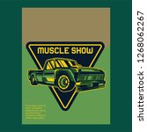 retro style muscle car   vector  | Shutterstock .eps vector #1268062267