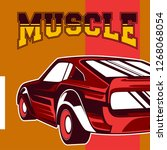 american muscle cars label ... | Shutterstock .eps vector #1268068054