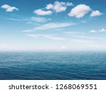 water  sky  clouds as background | Shutterstock . vector #1268069551