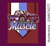 vintage cars old worn sign.... | Shutterstock .eps vector #1268076277