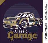 vintage cars old worn sign.... | Shutterstock .eps vector #1268076367