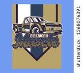 vintage cars old worn sign.... | Shutterstock .eps vector #1268076391