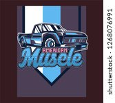 american muscle cars label ... | Shutterstock .eps vector #1268076991