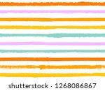 hand drawn striped seamless...   Shutterstock .eps vector #1268086867