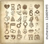 36 hand drawing doodle icon set ... | Shutterstock .eps vector #126809495