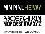 topiary font a through z eps 8... | Shutterstock .eps vector #126809597