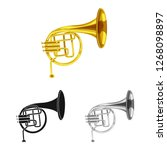 isolated object of music and... | Shutterstock .eps vector #1268098897