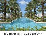 nassau bahamas usa august 24... | Shutterstock . vector #1268105047