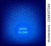 data flow. digital code. binary ... | Shutterstock .eps vector #1268107264