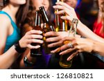 group of party people   men and ... | Shutterstock . vector #126810821