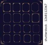big set of  thin vintage gold... | Shutterstock .eps vector #1268112367
