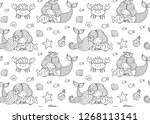 seamless pattern with little... | Shutterstock .eps vector #1268113141