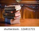 beautiful antique books in very ... | Shutterstock . vector #126811721
