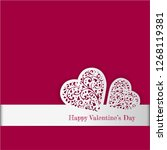 valentine's day card with paper ... | Shutterstock .eps vector #1268119381