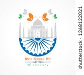 happy republic day of india... | Shutterstock .eps vector #1268122021