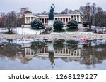 famous statue of bavaria at the ...   Shutterstock . vector #1268129227