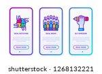 tolerance thin line icons set ... | Shutterstock .eps vector #1268132221