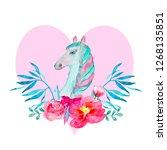 iillustration with watercolor... | Shutterstock . vector #1268135851