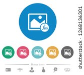 image effects flat white icons... | Shutterstock .eps vector #1268136301