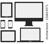 electronic device icons   set... | Shutterstock .eps vector #126814571