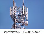 telecommunication network... | Shutterstock . vector #1268146534