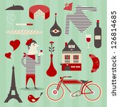 vector set of various icons... | Shutterstock .eps vector #126814685