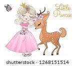 hand drawn beautiful cute... | Shutterstock .eps vector #1268151514