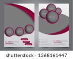flyer template. brochur design... | Shutterstock .eps vector #1268161447