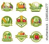 stock vector set of vegetables...   Shutterstock .eps vector #1268166277