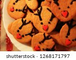 christmas deer. latvian biscuit ... | Shutterstock . vector #1268171797