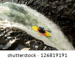 waterfall kayak jump  approx... | Shutterstock . vector #126819191