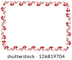 lovely heart frame for your... | Shutterstock . vector #126819704