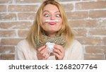 measure temperature. break... | Shutterstock . vector #1268207764