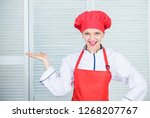 lady adorable chef teach... | Shutterstock . vector #1268207767