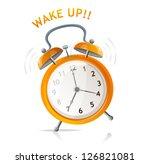 wake up clock message | Shutterstock . vector #126821081
