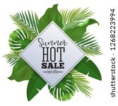 sale banner  poster with palm... | Shutterstock .eps vector #1268223994