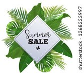 Sale Banner  Poster With Palm...