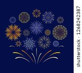 celebration fireworks. vector... | Shutterstock .eps vector #1268242387