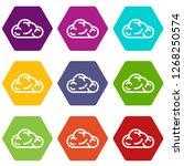 ui cloud icons 9 set coloful...