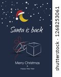 christmas card with santa hat | Shutterstock .eps vector #1268253061