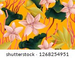 colourful seamless pattern with ... | Shutterstock . vector #1268254951