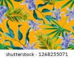 colourful seamless pattern with ... | Shutterstock . vector #1268255071