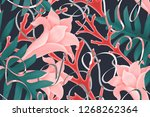 colourful seamless pattern with ... | Shutterstock . vector #1268262364