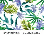 colourful seamless pattern with ... | Shutterstock . vector #1268262367